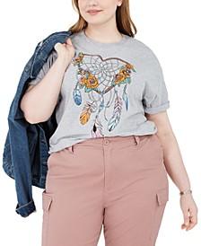 Trendy Plus Size Heart Dreamcatcher T-Shirt
