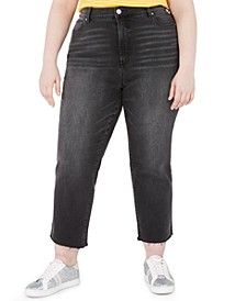 Trendy Plus Size The Iconic Cropped Straight Jeans