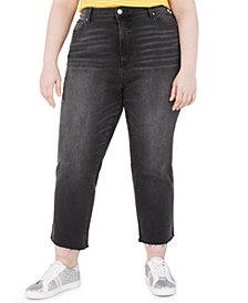 Celebrity Pink Trendy Plus Size The Iconic Cropped Straight Jeans