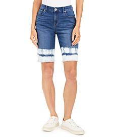 Frayed-Hem Dyed Bermuda Shorts, Created For Macy's