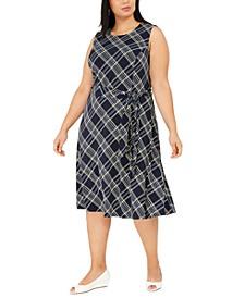 Plus Size Sleeveless Midi Dress, Created for Macy's