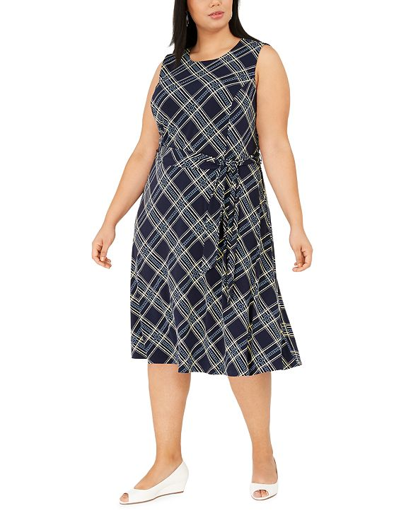 Charter Club Plus Size Sleeveless Midi Dress, Created for Macy's