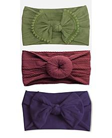 Baby Girl Neutral Headbands Set, 3 Piece