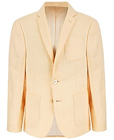 Big Boys Classic-Fit Yellow Linen Suit Jacket