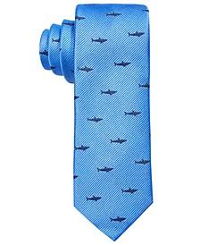Big Boys Blue Shark Attack Silk Tie