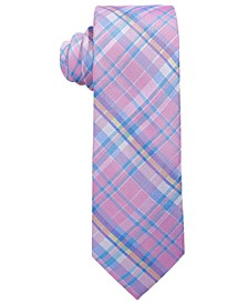 Big Boys Pink Madras Plaid Silk Tie