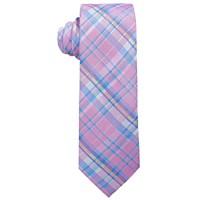 Ralph Lauren Big Boys Pink Madras Plaid Silk Tie