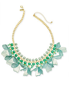"""INC Gold-Tone Petal Shaky Statement Necklace, 18"""" + 3"""" extender, Created for Macy's"""