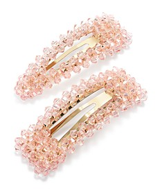 INC Gold-Tone 2-Pc. Set Pink Beaded Barrettes, Created for Macy's