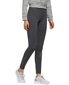 Women's Essentials Metallic-Logo Leggings
