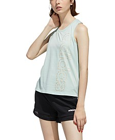 Women's Essentials Cotton Metallic-Logo Tank Top