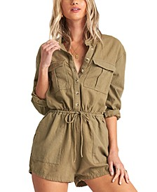 Juniors' Wake The Night Cotton Romper