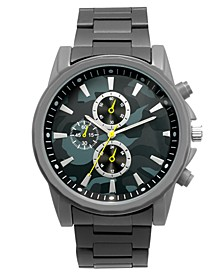 INC Men's Matte Gray Bracelet Watch 46mm, Created for Macy's