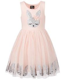 Toddler Girls Glitter & Sequins Bunny Dress