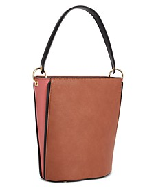 INC Ajae Colorblocked Bucket Bag, Created for Macy's
