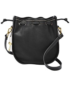 Palmer Leather Drawstring Bag