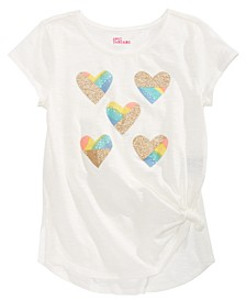 Big Girls Hearts Side-Tie T-Shirt, Created For Macy's