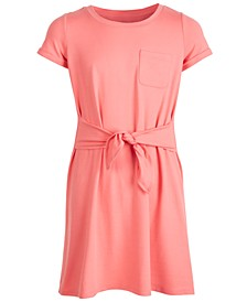 Big Girls Tie-Front Dress, Created for Macy's