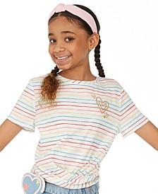 Big Girls Striped Twist T-Shirt, Created for Macys