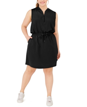 Plus Size Hooded Active Dress