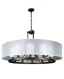 Canyon Home Modern Drum Chandelier Overhead Light Fixture