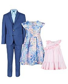 and Bonnie Jean Blue & Pink Suit & Dress Separates