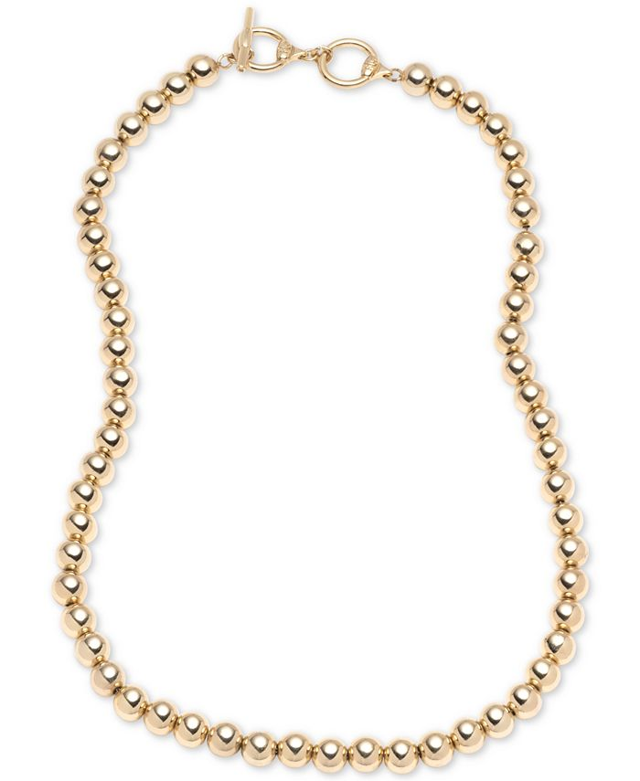 """Lauren Ralph Lauren - Gold-Tone Metal Bead 20"""" Collar Necklace"""
