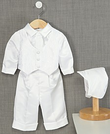 Baby Boys' Hat & Suit Christening Set