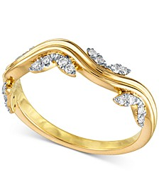 Diamond Fashion Waves Band (1/5 ct. t.w.) in 14k Gold