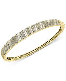 EFFY® Diamond Pavé Bangle Bracelet (1-7/8 ct. t.w.) in 14k Gold