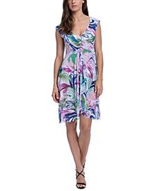 Club Tropicana Printed Swim Cover-Up Dress