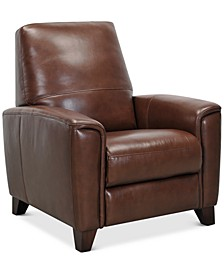"Brayna 35"" Leather Pushback Recliner, Created for Macy's"