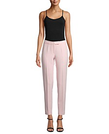 Tab-Waist Stretch Pants