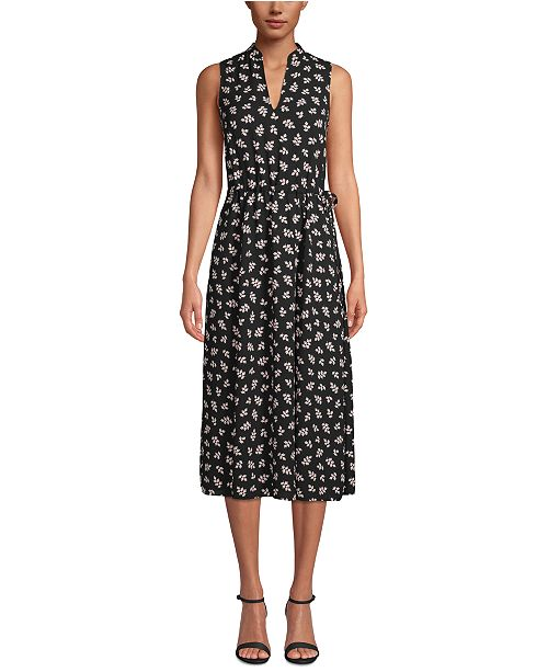 Anne Klein Drawstring-Waist Midi Dress