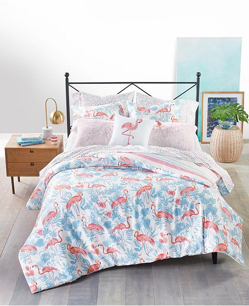 Martha Stewart Collection Flamingo Lagoon 3-Pc. Comforter Set, Created for Macy's
