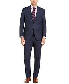 Men's Classic-Fit Blue Plaid Suit