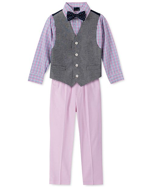 Nautica Little Boys 4-Pc. Twill Oxford Vest Set