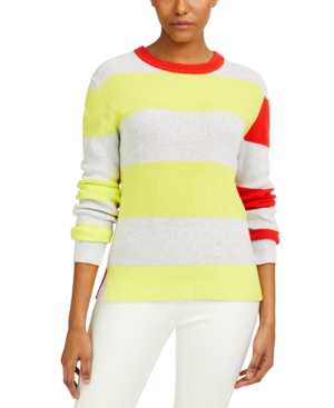 French Connection Cottons NUKA COTTON COLORBLOCKED SWEATER