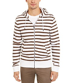 Men's Striped Full-Zip Hoodie