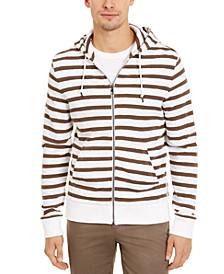 Men's Striped Full-Zip Hoodie