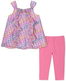 Toddler Girls 2-Pc. Ruffled Tunic & Leggings Set