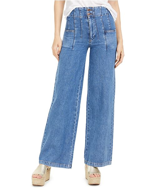 Free People Midnight City Wide-Leg Jeans