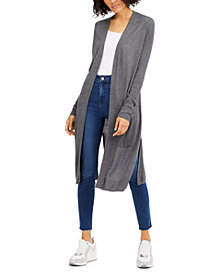 INC Ribbed Duster Cardigan, Created for Macy's