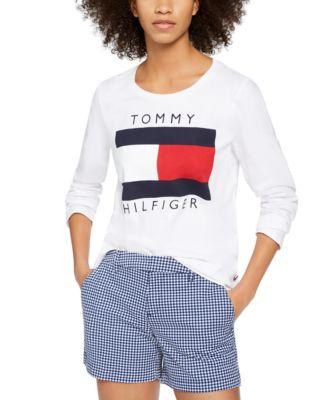 Long-Sleeve Flag Cotton T-Shirt
