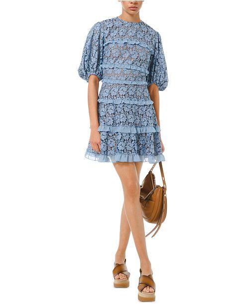 Michael Kors Lace Ruffled Dress
