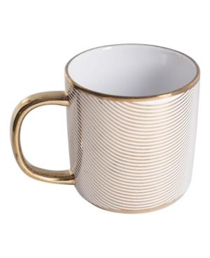 Home Essentials Gold Plaid Mug
