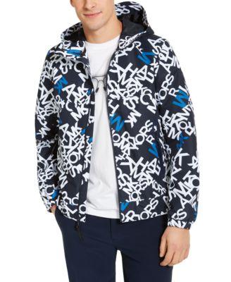 Men's Allover Logo Hooded Jacket