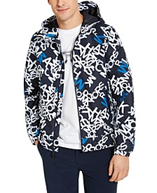 Men's Allover Logo Hooded Jacket