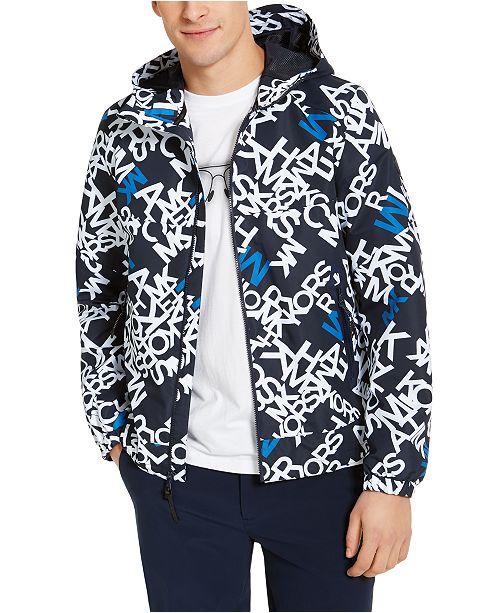 Michael Kors Men's Allover Logo Hooded Jacket
