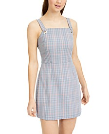 Juniors' Plaid Jumper Dress